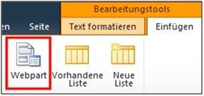 Webparts in SharePoint 2010 einfach bearbeiten