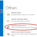 PST-Datei in Outlook exportieren