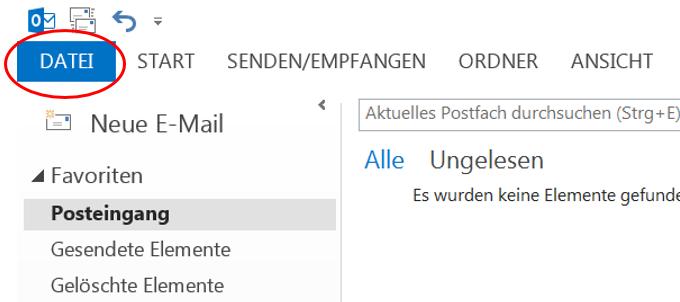 Exportieren einer. PST-Datei bzw. Outlook-Datendatei in Outlook ...