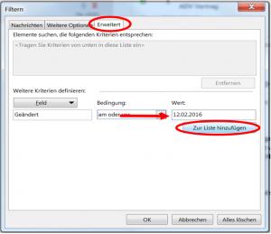Export-Filter für pst-Datei