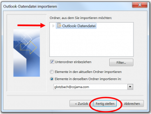 Datendatei importieren