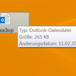 Outlook-Datendatei Speicherort