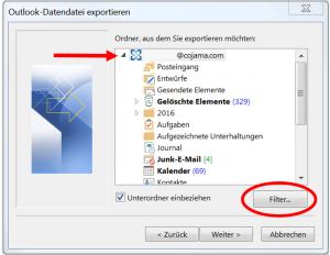 Filterfunktion für PST-Datei