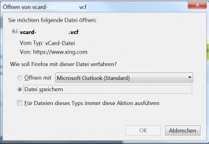 Mozilla Thunderbird Datei speichern