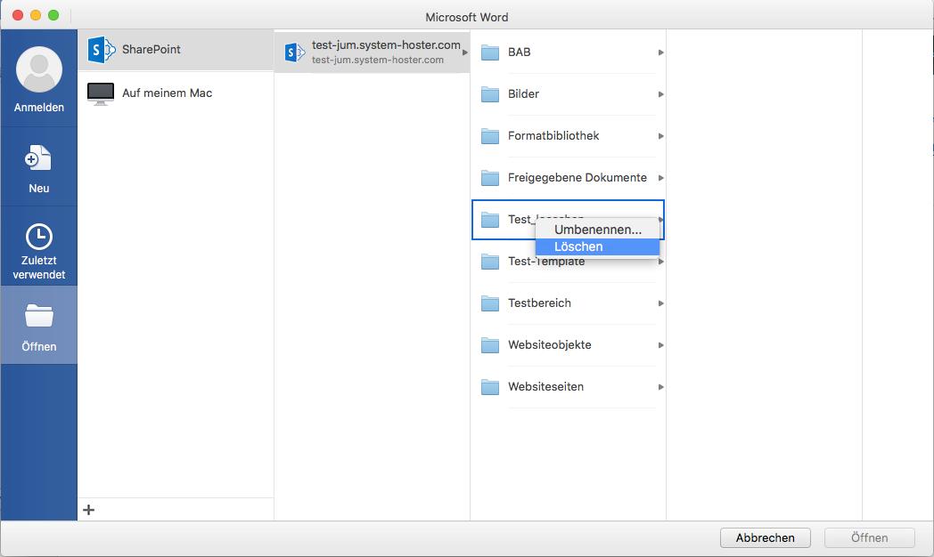 Office 2016 for Mac - Achtung, beim löschen