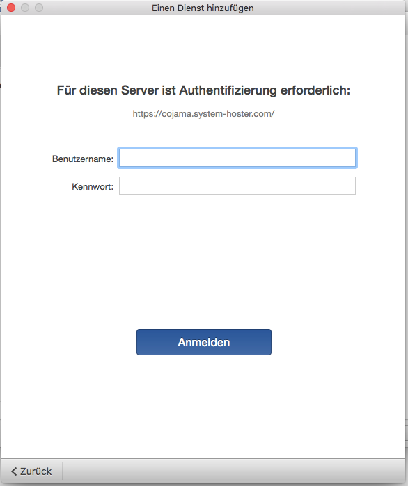Office 2016 for Mac Login eingeben