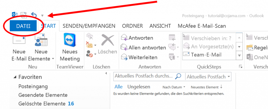 Feiertage in Outlook 2013