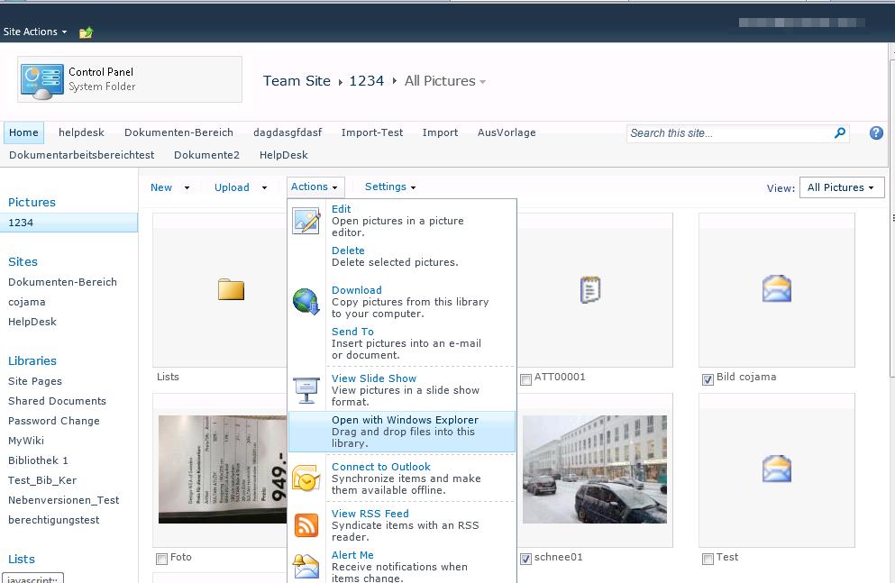 Erweiterte Optionsansicht im SharePoint wenn nur Office 2010 installiert ist
