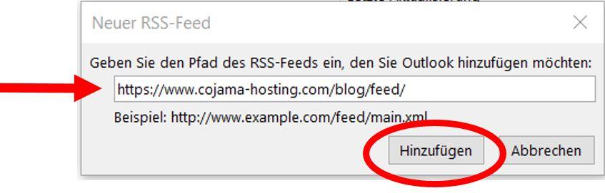 Feed-URL einfügen