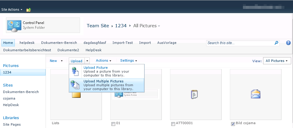 Upload Multiple Pictures