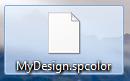 """Die Designdatei """".spcolor"""""""
