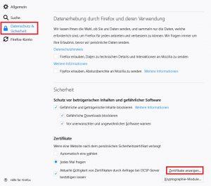Firefox Datenschutz Sicherheit